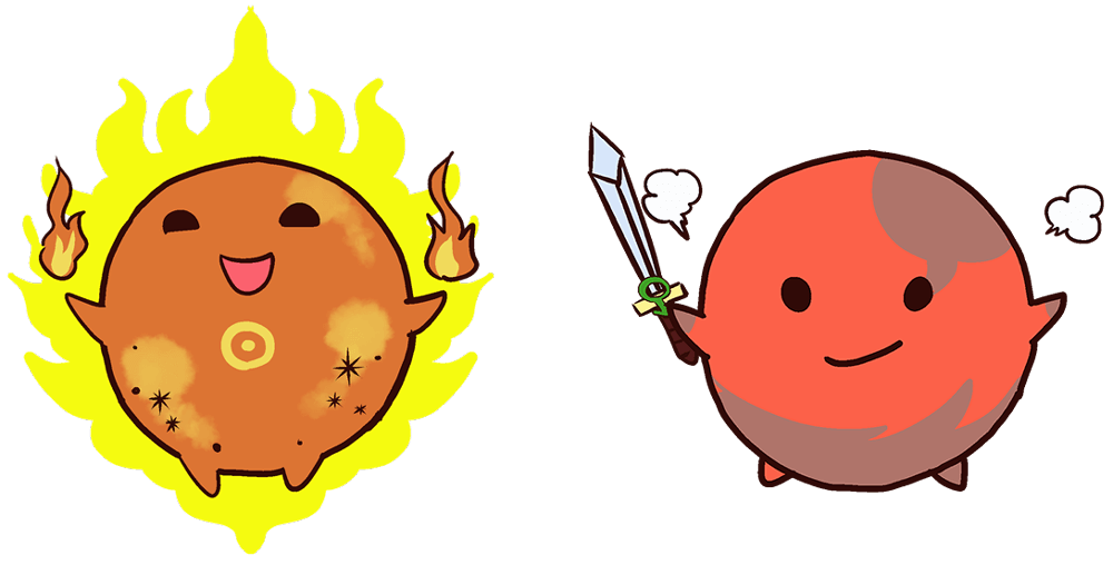 太陽と火星