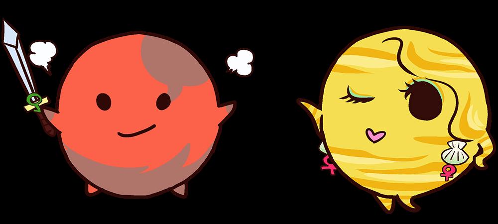 火星と金星