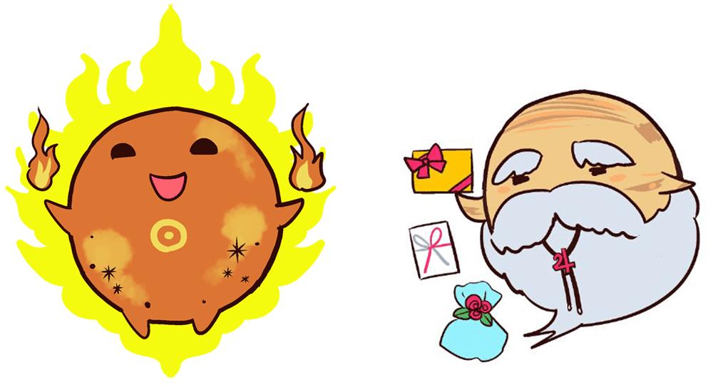 太陽と木星