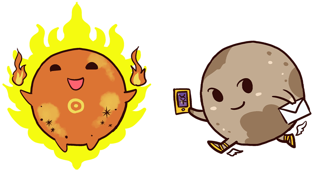 太陽と水星
